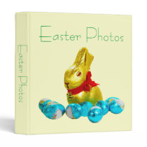 Bunny and Eggs Photo Album Template 3 Ring Binder