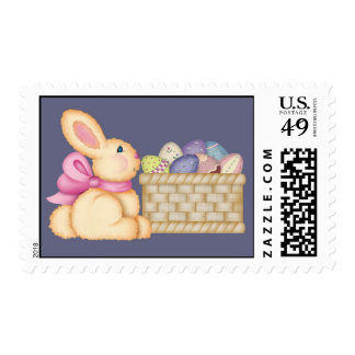 Bunny and Eggs Postage Stamps