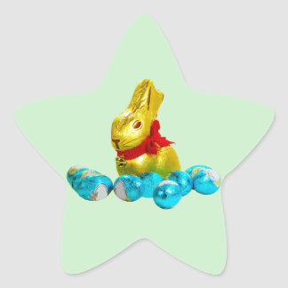 Bunny and Eggs Star Sticker