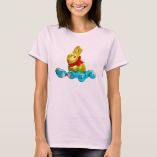 Bunny and Eggs Women Pink T-Shirt