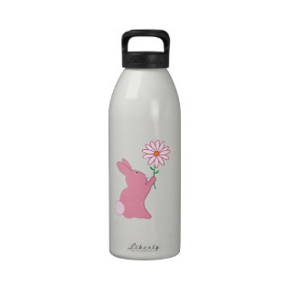 Bunny And Flower Water Bottles