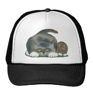 Bunny and Kitten are Best Friends Trucker Hat