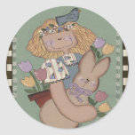 Bunny and Me Round Stickers