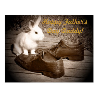Bunny and Shoes Father's Day Postcard