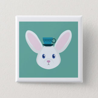 Bunny and Tea Button