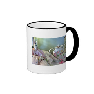 Bunny And Teapot Cup Coffee Mug