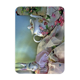 Bunny And Teapot Magnet