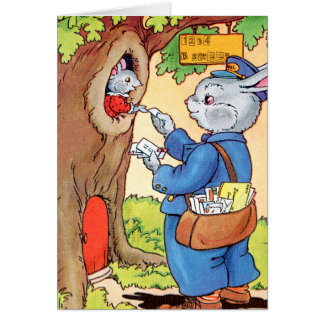 Bunny And the Mailman Card