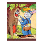 Bunny And the Mailman Post Card