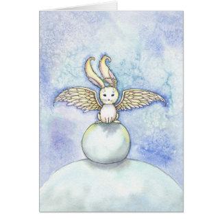 Bunny Angel Christmas Holiday Card