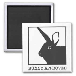 BUNNY APPROVED 2 INCH SQUARE MAGNET