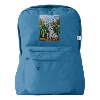 Bunny art backpack