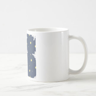 Bunny-astronaut in open space coffee mug