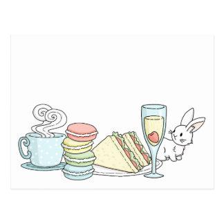 Bunny at Afternoon Tea Postcard