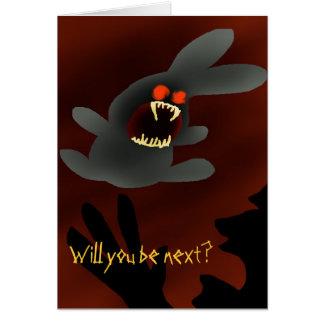 Bunny-Attack Greeting Card