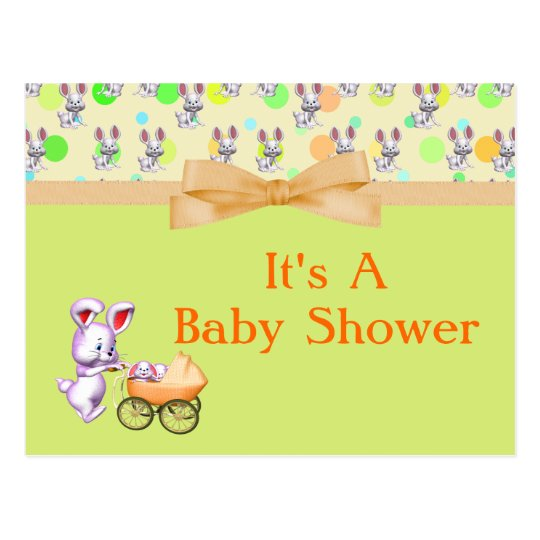 Bunny Babies,Creamy Colors Baby Shower Postcard