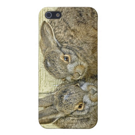 Bunny Babies (Wild) iPhone 4 Hard Shell Case iPhone 5 Case