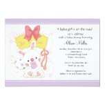 Bunny Baby Girl Baby Shower Personalized Invite