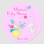 Bunny Baby Personalized Baby  Shower Stickers