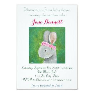 Bunny Baby Shower Invitation Rabbit Baby shower