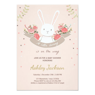 bunny baby shower invitations announcements zazzle