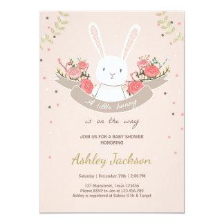 Good Bunny Baby Shower Invitation Rabbit Spring Floral