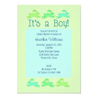 Bunny Baby Shower Invitations (Boy)