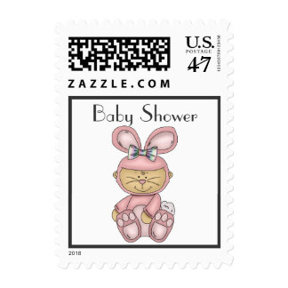 Bunny Baby Shower Postage - Pink