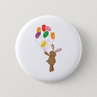 Bunny Balloons Pinback Button