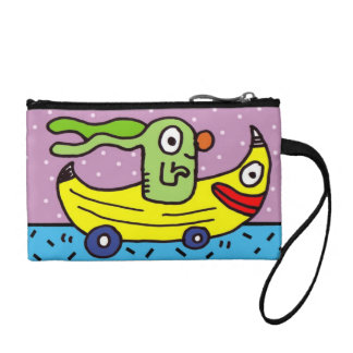 Bunny Banana Mobile Change Purse