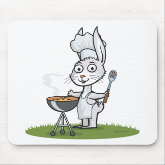 Bunny Barbecue Mouse Pad