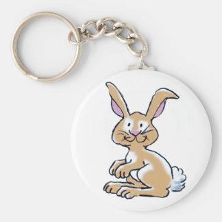 Bunny basic button key chain