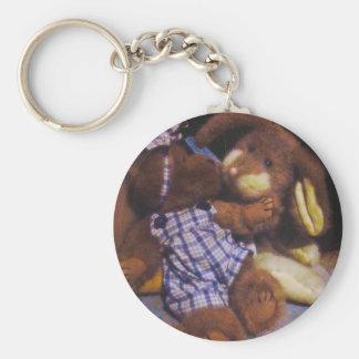 Bunny & Bear love Keychain