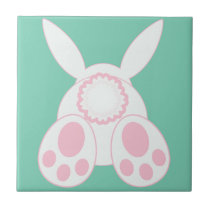 Bunny Behind Ceramic Tile