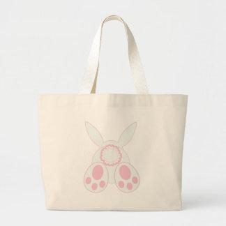Bunny Behind Large Tote Bag