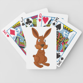 Bunny Bicycle Playing Cards