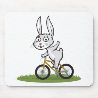 Bunny Biker Mouse Pad