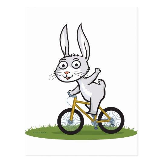 Bunny Biker Postcard