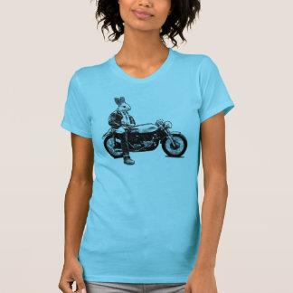 Bunny biker t shirt