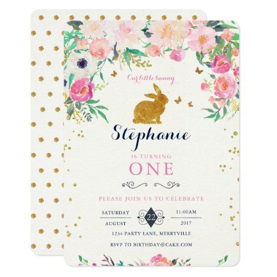 bunny birthday invitation zazzle com