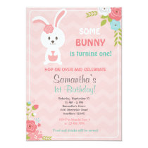 Bunny Birthday Invitation / Bunny Invitation