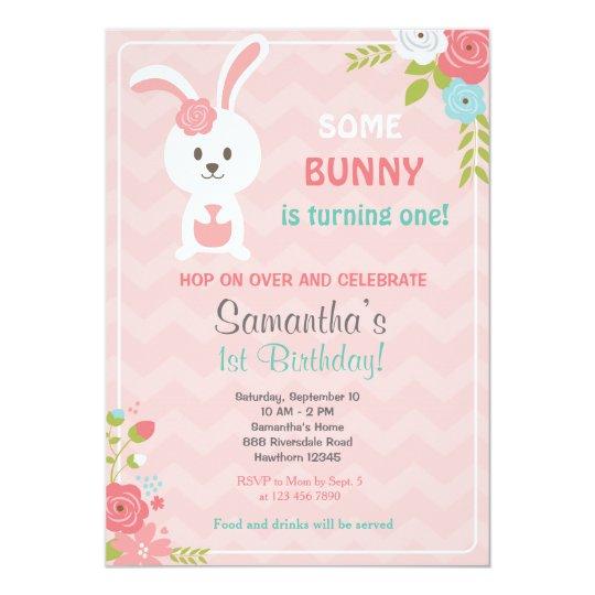 bunny birthday invitation bunny invitation zazzle com