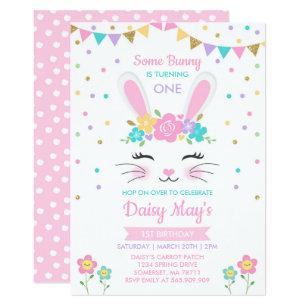 Bunny Birthday Invitation Some