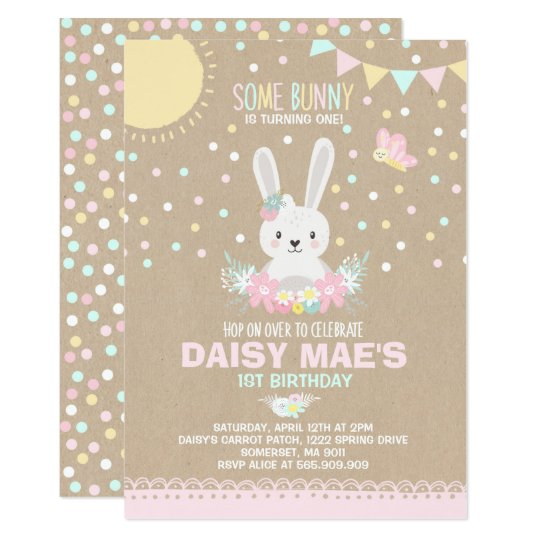 bunny birthday invitation some bunny birthday zazzle com