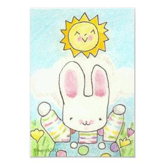 bunny birthday invite