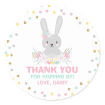 Bunny Birthday Party Favor Tag Some Bunny Sticker