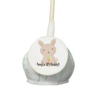 Bunny birthday party favors cake pops