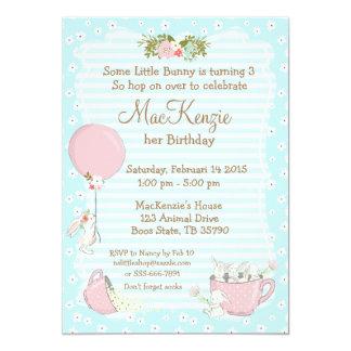 Bunny birthday party invitation