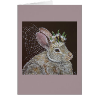 Bunny Bride card