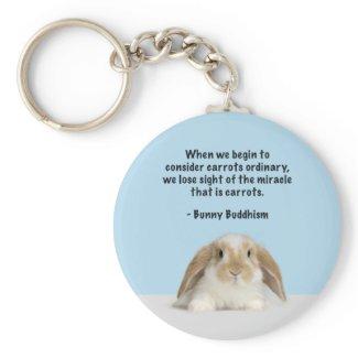 Bunny Buddhism Basic Keychain
